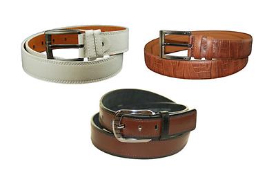 AFONiE Mens MultiColor Belt Gift Set Bundle of 3 for Men - Size Large 38