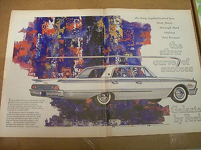 Original 1960 Ford Galaxie Two-Page Magazine Ad