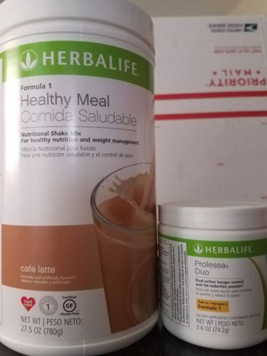 NEW HERBALIFE PROLESSA DUO 7 day program weight loss & Formula 1 cafe latte
