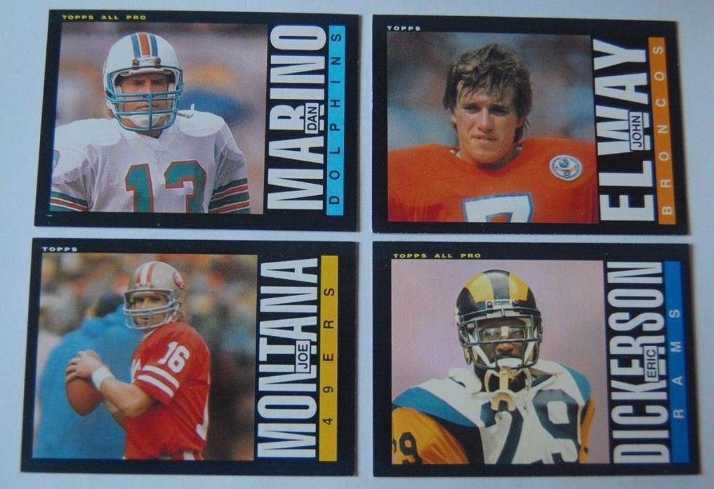 1985 Topps Football Complete Set 396 Box Dan Marino Montana Moon Dent RC NM Mint