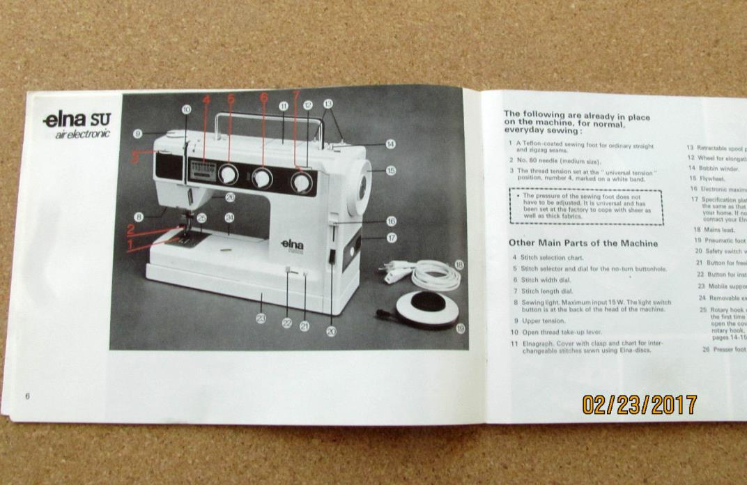elna lotus sewing machine for sale
