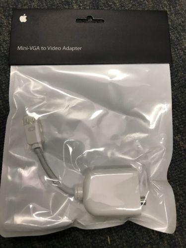 Genuine Apple Mini-VGA to Video Adapter M9109G/A