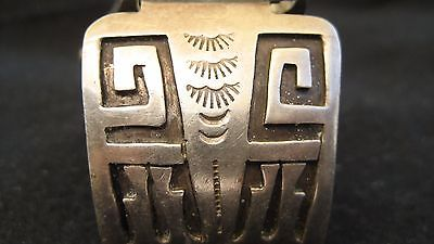 Navajo Sterling Silver Watch Tips and watch ( Jacob Kahe)
