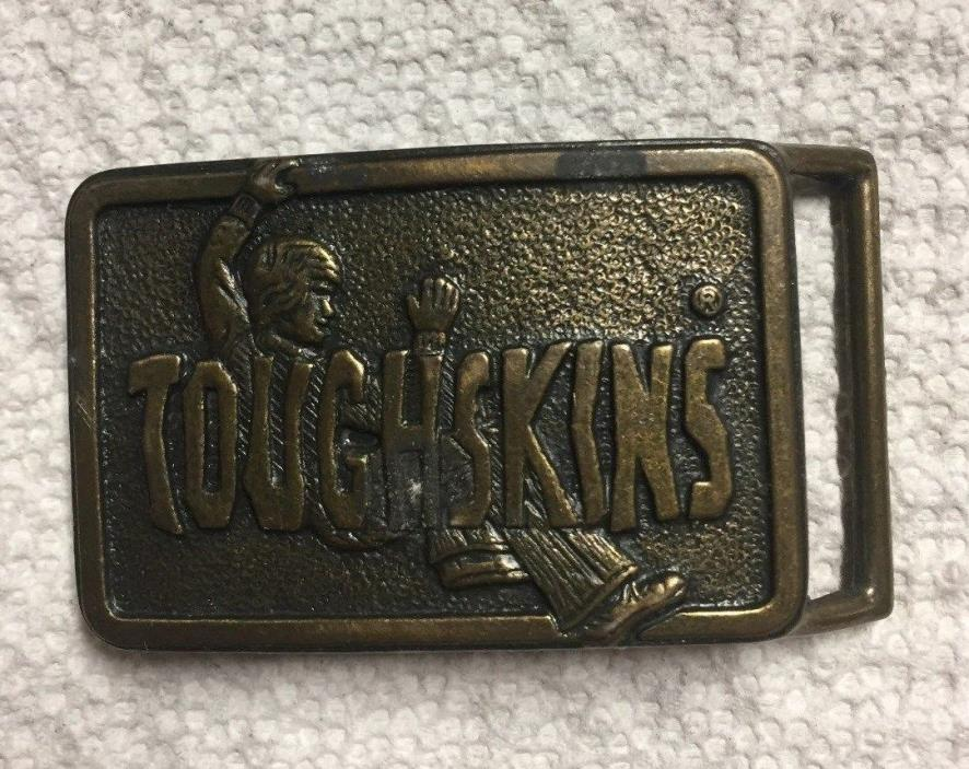 VINTAGE 1970s SEARS TOUGHSKINS CHILDRENS JEANS BRASSTONE BELT BUCKLE