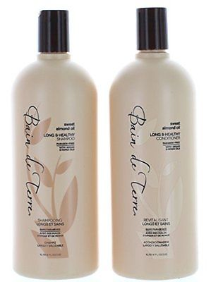 Bain De Terre Sweet & Almond Oil Long & Healthy Shampoo & Conditioner Liter Duo