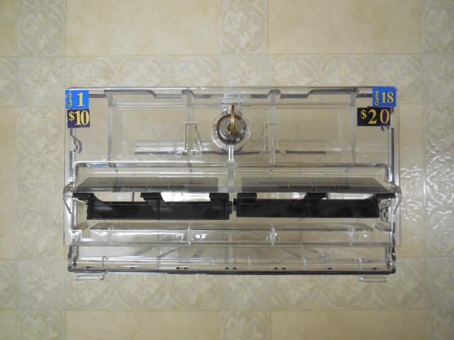 Lottery Ticket Display Case Lock Box Clear Plastic Safe Drop Box Keyed Lock