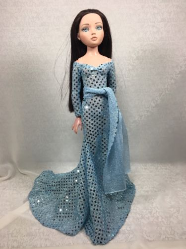 Ellowyne Wilde Tonner Outfit Gown-Confetti Ice Blue Gown -by JPC