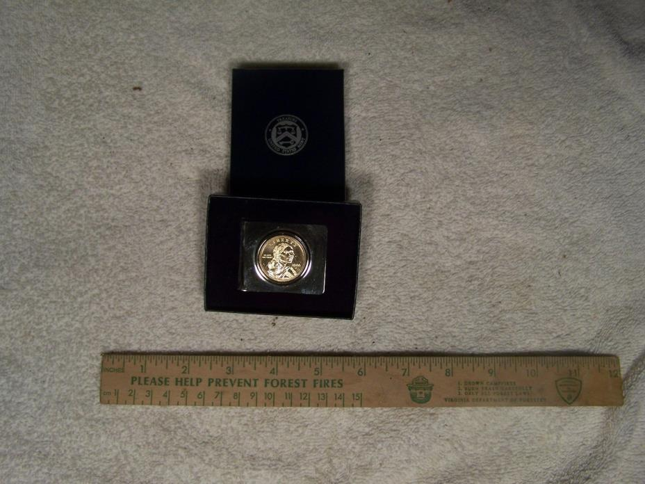 United States Mint Treasury, Coin collector's Money Clip, 1 dollar coin, 2000  P