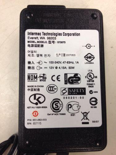 Intermec 073573 AC Adapter 12V 4.15A 50W 851-082-003 Power Supply no cord