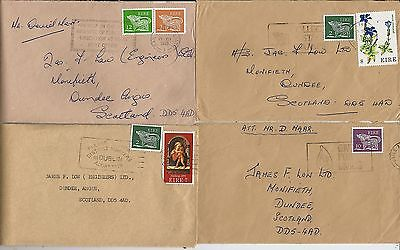 Celtic beast stamps on 7 Irish covers from 1970-80s correspondence to Scotland