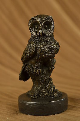 Handcrafted bronze sculpture SALE Bar Owl Hotcast Pure Abstract Large Beautiful