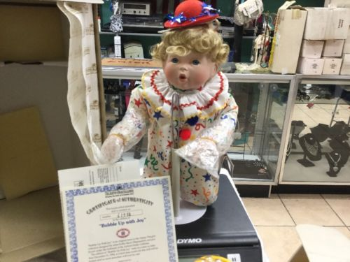 Ashton Drake Bubble Up With Joy Porcelain Doll Kathy Barry 1994 Clown
