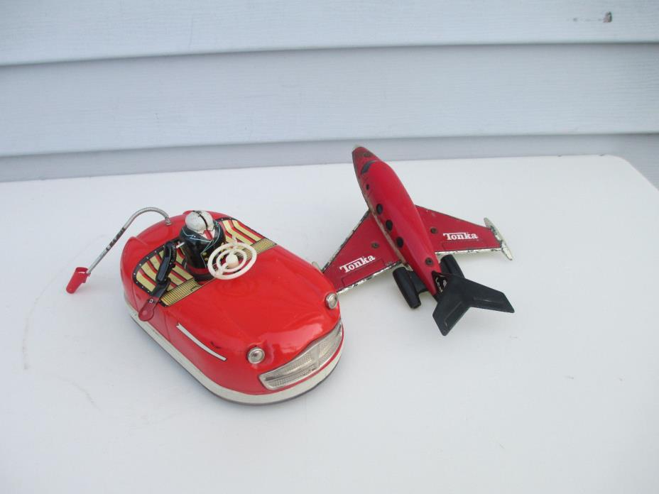 Vntg KO Japan Cragstan 73178 Tin Litho Friction Bump N Go Bumper Car For Repair