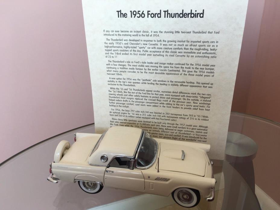 Danbury Mint 1956 Ford Thunderbird Convertible