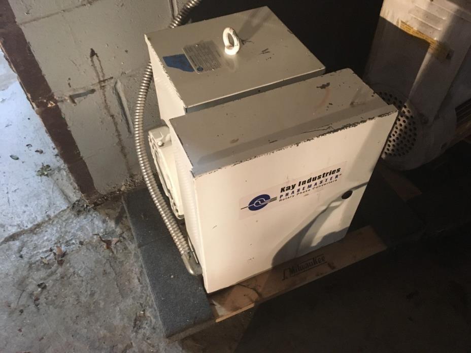Phase converter 25 HP