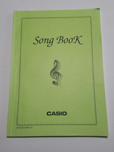 Song Book Casio English Mulitlanguage 90 songs MA0805-B H04