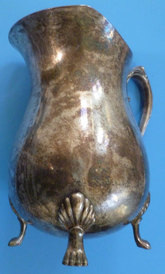 Vintage Silver Plated Water Pitcher by Leonard