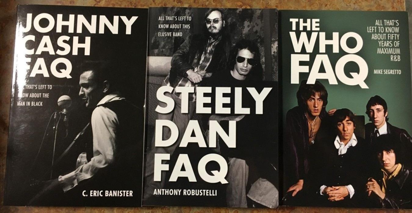 Steely Dan, Johnny Cash, The Who FAQ Reference Book Collection of 3 books