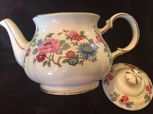 Vintage Sadler Floral Teapot