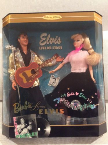 NIB Barbie Loves Elvis Live on Stage Barbie Doll Gift Set Collector Edition