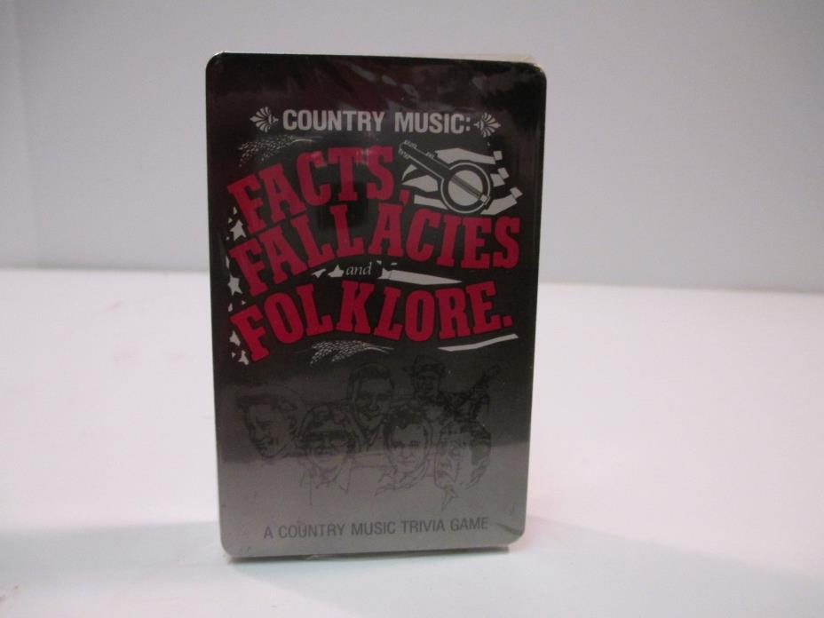 COUNTRY MUSIC TRIVIA CARD GAME