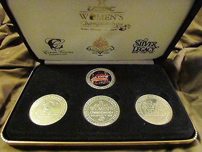 USBC 2006 WOMENS BOWLING CHAMPIONSHIP, RENO NEV, SET OF 4 COMM $1  SLOT TOKENS