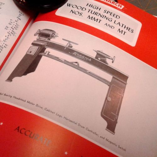 VTG American Monarch Woodworking Machinery Illustrations and Spec Sheets Product
