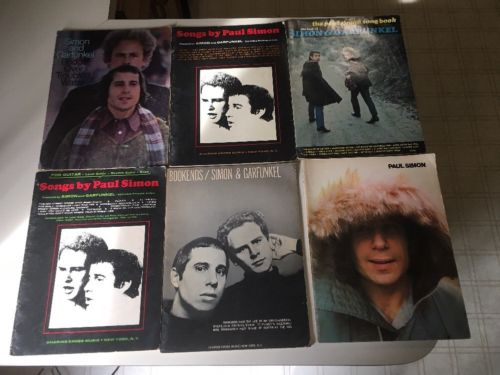 Simon and Garfunkel Paul Simon Lot Of Six Vintage Sheet Music Song Books.
