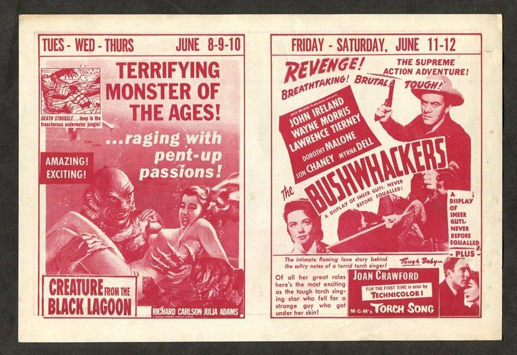 1954 Vintage Movie Pamphlet  Creature from the Black Lagoon Monster Horror Film