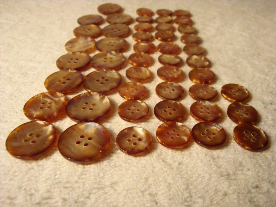 15 Lg 33 sm Plastic Gold Tone Buttons 4 Holds 20mm In Dia, 12MM In Dia