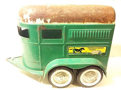 Nylint Thoroughbred Farms Horse Trailer Pressed Steel Vintage 1960s