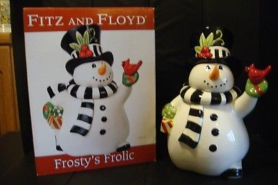 NEW 2015 Fitz & Floyd Frosty's Frolic Snowman Collection Cookie Jar