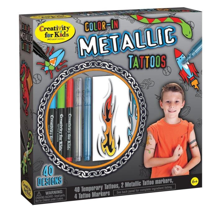Creativity For Kids Color in Metallic Tattoos