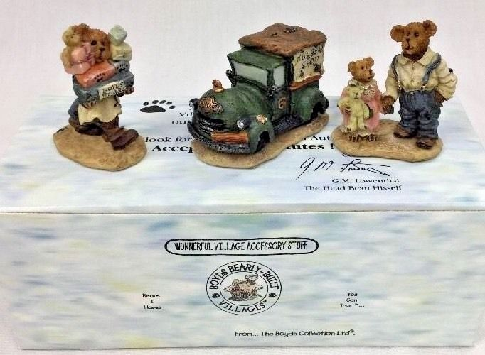 Boys Bearly Built Villages Certified  2000 Ted E. Bear Shop New In Box