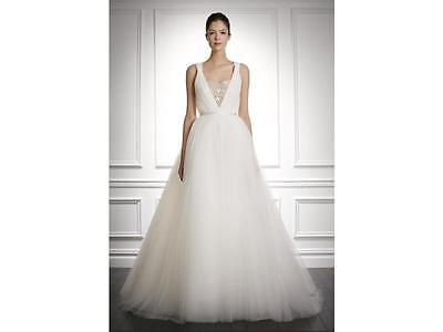 Carolina Herrarra Jocelyn Wedding Gown Size 8 Ivory Brand New!