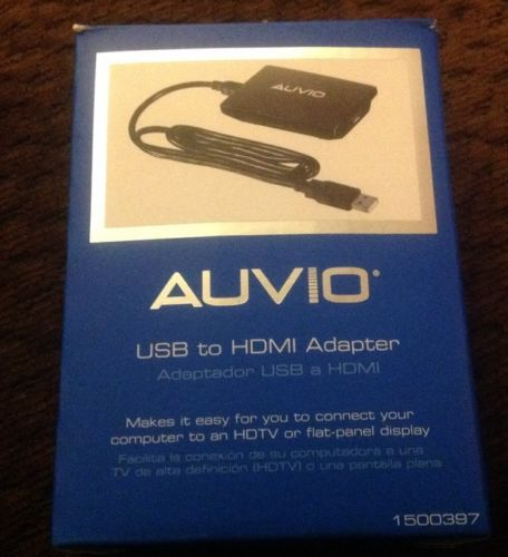 Brand New Auvio USB PC to HDMI TV Adapter #1500397