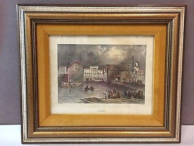 Antique W H Bartlett Colored Steel Engraving Toronto