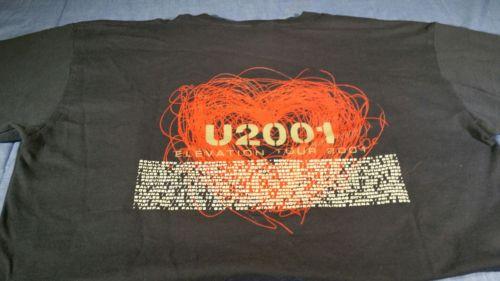 U2001 Elevation tour 2001. tee shirt  100% cotton lg