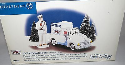 Dept 56 Snow Village It's Time For An Icy Treat Good Humor Ice Cream Truck