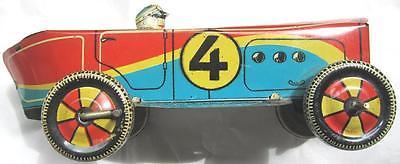 VINTAGE TURKISH UFUK TIN RACING CAR LITHOGRAPH TOY RARE COLLECTIBLE OLD AUTO
