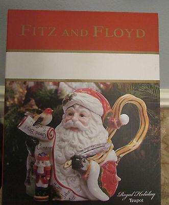 Fitz and Floyd Regal Holiday Teapot NIB