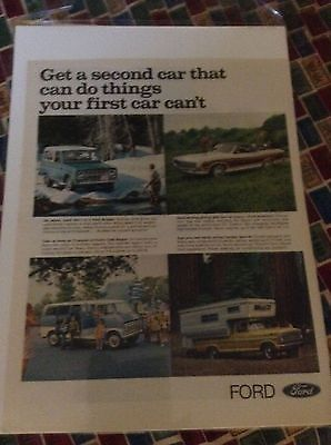 Original 1970 Ford  Trucks Magazine  Ad -  Bronco, Ranchero, Van and Camper