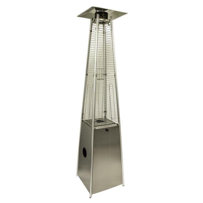 AZ Patio Stainless Steel Floorstanding 40000-BTU Liquid Propane Gas Patio Heater