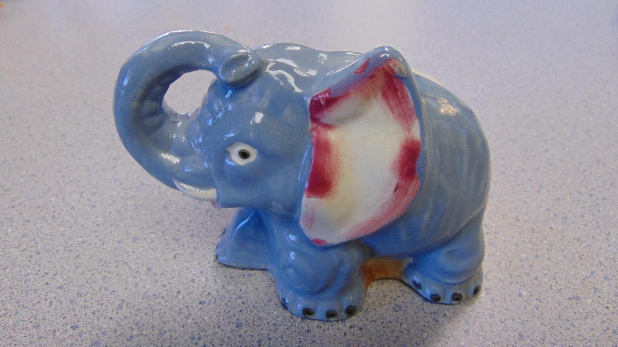 Blue Elephant Planter Small Cache Pot Japan 3.5
