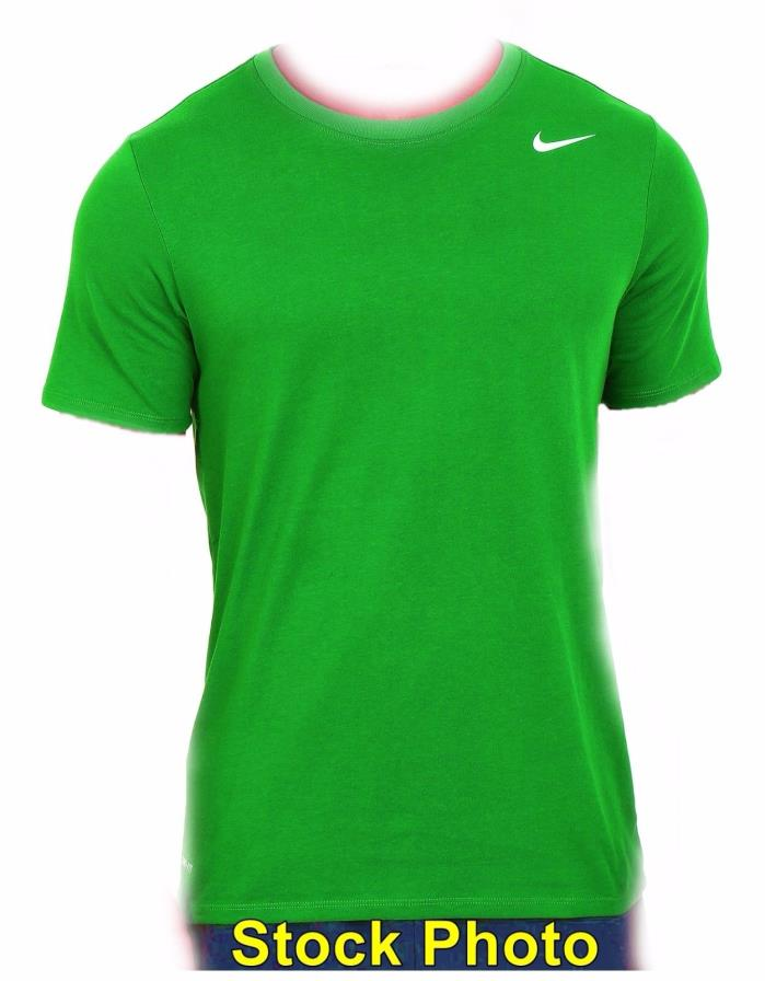 Large NIKE DRI FIT Green Athletic Short Sleeve T-Shirt Fitness Gym, Light 6 oz
