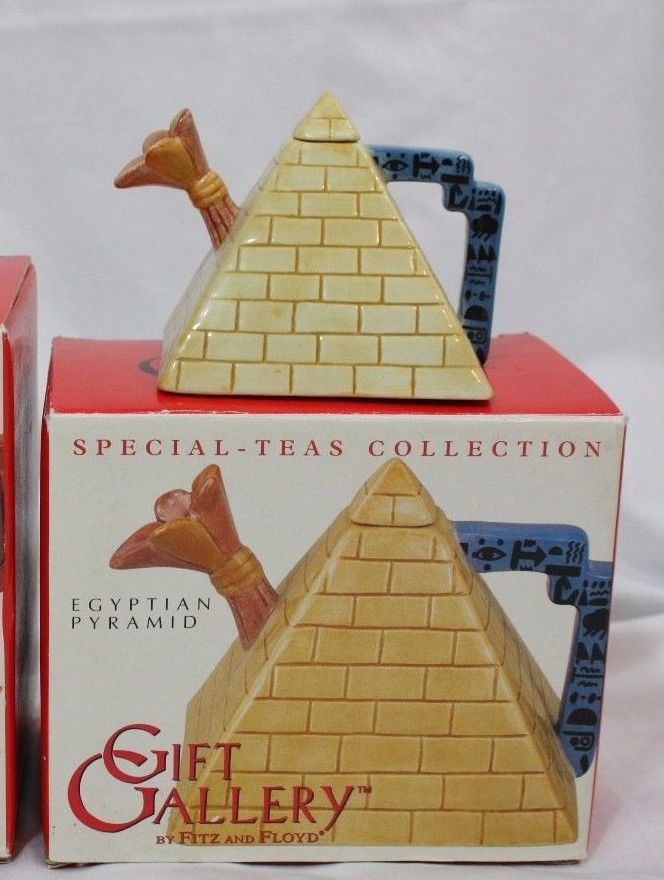 2003 Teapot Egyptian Pyramid Fitz & Floyd Special Teas Collection