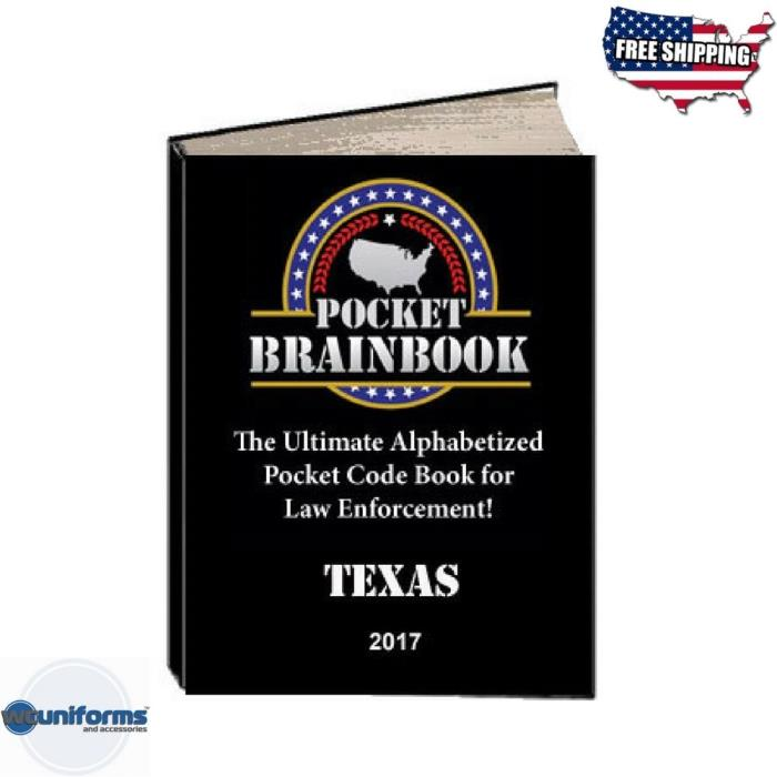 Pocket Brainbook - Texas Police Code Book 2017