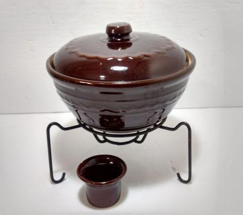Vintage Marcrest Stoneware Daisy Dot Classic Pottery Dutch Oven Casserole Dish