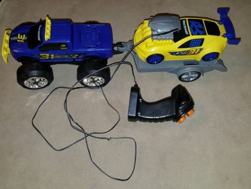 Snap 'N Race Remote Control Race Toy Cars with Interchangeable (F-150,Silverado)