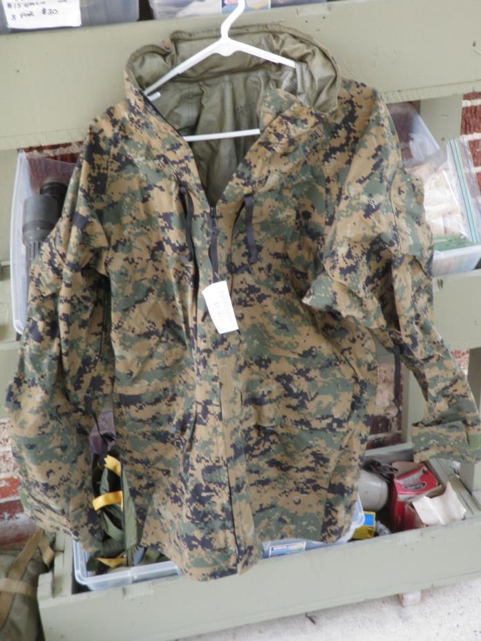 USMC Marine All purpose parka environmental camo marpat ML medium long NWT